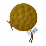Infinity Collection 16 inch Round Tufted Plush Chair Pad/Cushion for Kitchen Bar Stool Dining Room Durable Reversible with Ti
