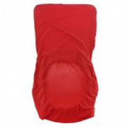 Homyl Color Option Wedding Dining Bar Stool Low Back Chair Slip Cover Seat Cover - Red