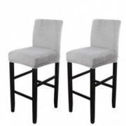 VoiceFly 2 Pack Velvet Counter Stool Pub Chair Covers Slipcover, Stretch Removable Height Bar Stool Covers Washable High Seat