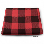 Swono Plaid Square Seat Cushion,Red and Black Lumberjack Plaid and Buffalo Check Patterns Seat Cushion Non-Slip Bar Stool/Off