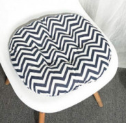 Striped Round Seat Cushions Futon Pouf Papasan Floor Meditation Pillow Seat Back Dinning Chair Cushion for Stool Bar Pad Yoga