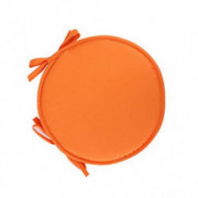 seat cushion Round, not-Slip Thickened Chair Pads with Ties for Home Bar Stool Dining Chair Cushion 2pcs-Orange Diameter30cm