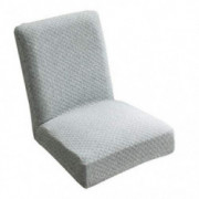 Fityle Knitted One-Piece Dining Room Chair Cover Slipcover for Home Party Hotel Bar Stool Seat - Grey
