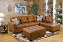 3 Piece Sectional Sofa Couch Set, L-Shaped Modern Sofa with Chaise Storage Ottoman and Pillows for Living Roo