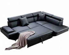 Sofa Couches Sofa Sofa Bed with 2 Piece Faux Leather Queen Modern Contemporary Sofa for Living Room Sectional Sofa Sleeper So