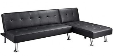 YAHEETECH Living Room Sectional Sofa Sets Futon Bed for Living Room Modern Furniture Set Sectional Sofa Couch Set Corner Livi