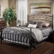 Cecelia Queen Size Iron Bed in Dark Bronze