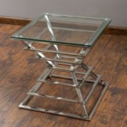 Bronwyn Tempered Glass End Table