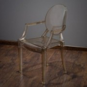 Cayden Transparent Amber PC Ghost Armchair