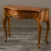 Ziggy Brown Wood 2 Drawer Console Table