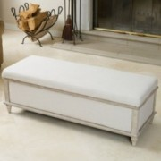 Denise Austin Home Lombardi Fabric Storage Ottoman