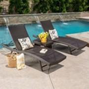 Hawthorne Wicker Chaise Lounge Set