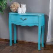 Wayne Blue Drawer Console Table