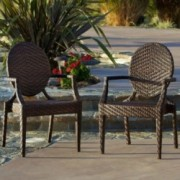 Townsgate PE Wicker Outdoor Chair (Set of 2)