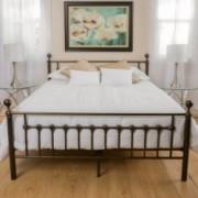 Bradford Queen Size Bed in Dark Copper Gold