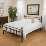 Bradford King Size Dark Copper Gold Bed Frame