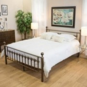 Bradford King Size Brown Iron Metal Bed Frame