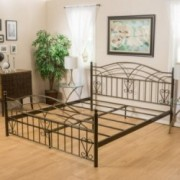 Cassell Copper Gold Iron Bed Frame in Cal-King