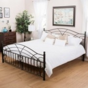 Edsel Cal King Size Black Finish Iron Bed Frame