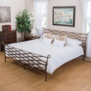 Darrah Queen Size Brown Finish Iron Bed Frame