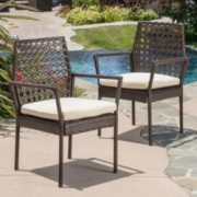 Parker Multibrown Wicker Dining Chairs (Set of 2)