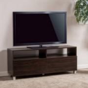 Brighton 2-Drawer Dark Walnut Wood TV Media Console