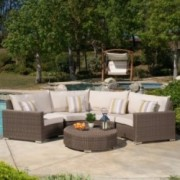 Gregory Outdoor 5-piece Aluminum Sectional Seating Set with Sunbrella Cushions