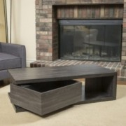 Fulton Rectangular Rotating Wood Coffee Table