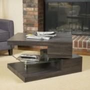 Bushwick Rectangular Rotating Wood Coffee Table