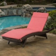 Lakeport Outdoor Adjustable Chaise Lounge Chair w/ Cushion