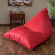 Peter Pointy Red Lounge Bean Bag