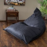 Peter Pointy Black Lounge Bean Bag