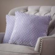Square Lavender Dimple Dot Pillow (Set of 2)