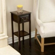 Noah Reclaimed Acacia Wood Slim Accent Table