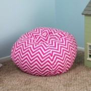 Manne Contemporary Pink Bean Bag