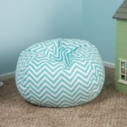 Manne Contemporary Blue Bean Bag