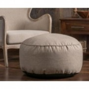Domas Contemporary Beige Color Bean Bag