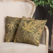 Hirlmi Wead Pattern Contemporary Two Pillows