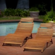Lisbon Outdoor Folding Chaise Lounge Chair (Set of 2)