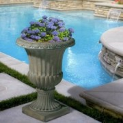 Napoli Antique Green Stone Planter