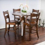 Fulton 5-piece Round Counter Height Wood Dining Set