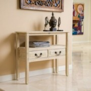 Alexandra Home Grant Acacia Wood Accent Table
