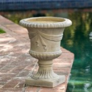 Ferrara Antique Green Stone Planter