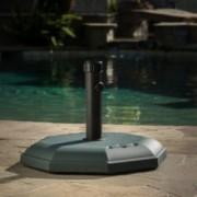 Howard 66-pounds Octagonal Dark Green Concrete Umbrella Base