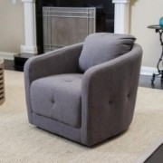 South Hampton Charcoal Ash Swivel Chair