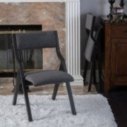 Hunak Contemporary Smoky Foldable Chair