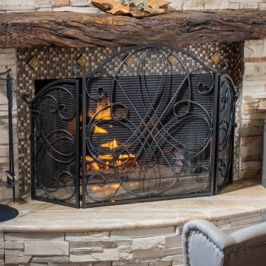 Fireplace Screens Glass Doors & Grate Screen Covers