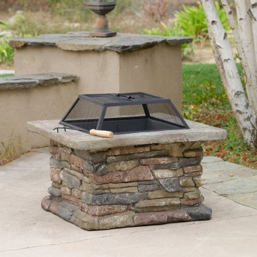 Safe Outdoor Fire Pits & Tables powered by Gas, Gel or Wood