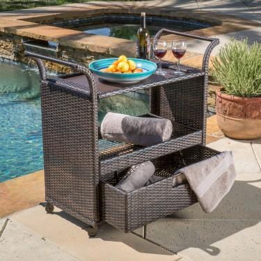 Outdoor Patio Serving Bar Carts